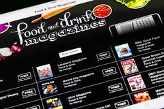 Food And Drink Magazines On iPad Stock Photos