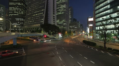 Time lapse from shinjuku area, japan Stock Footage