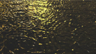 Stock Video Footage of Raindrops on water surface at night