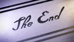 """""""The End"""". looping. Stock Footage"""