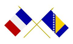 Stock Illustration of flags, france and bosnia and herzegovina