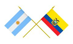 flags, argentina and ecuador - stock illustration