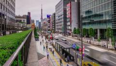Tokyo Street Time Lapse Stock Footage