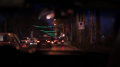 Traffic at night Stock Footage
