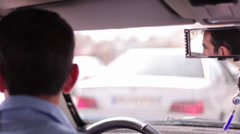 Driver in Traffic Stock Footage