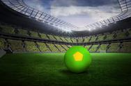 Stock Illustration of Bright green and yellow football
