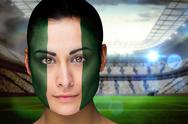 Stock Illustration of Beautiful nigeria fan in face paint