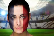 Stock Illustration of Beautiful france fan in face paint
