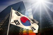 Stock Illustration of South korea national flag