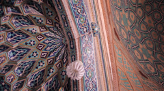 Inside a mosque Stock Footage