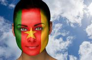 Stock Illustration of Beautiful brunette in cameroon facepaint