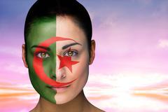 Stock Illustration of Beautiful brunette in algeria facepaint