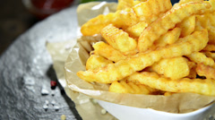 French fries (not loopable) Stock Footage