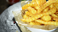 Stock Video Footage of french fries (not loopable)