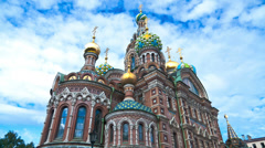 Church of the Savior on the Spilled Blood. St. Petersburg. Russia. timelapse Stock Footage