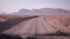 Off road driving, view from car, Iran Stock Footage