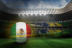 Stock Illustration of Football in mexico colours