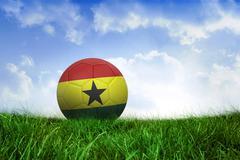 Football in ghana colours - stock illustration