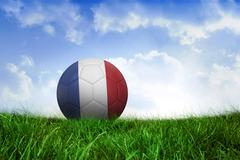 Football in france colours - stock illustration