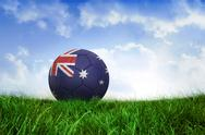 Stock Illustration of Football in australia colours