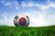 Stock Illustration of Football in south korea colours