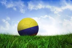 Stock Illustration of Football in colombia colours