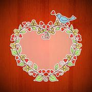 Floral frame Stock Illustration