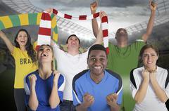 Various football fans Kuvituskuvat