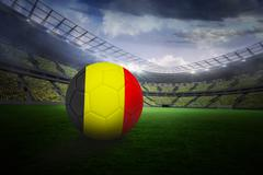 Stock Illustration of Football in germany colours