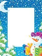 Christmas Border - stock illustration