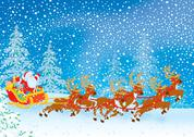 Stock Illustration of Sleigh of Santa Claus