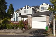 Stock Photo of large family home gresham oregon.