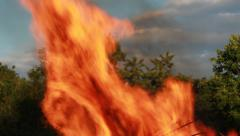 Stake Fire Elements - Rising Flames - stock footage