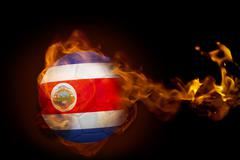 Stock Illustration of Fire surrounding costa rica ball