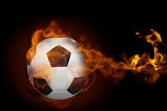 Stock Illustration of Fire surrounding football