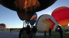 Smokey Bear Hot Air Balloon ready for flight HD 026 Stock Footage