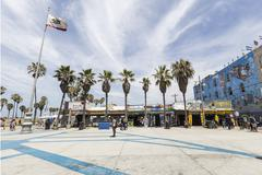 funky windward plaza at venice beach california - stock photo