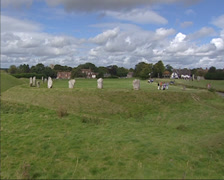 Avebury Stone circle and henge Stock Footage
