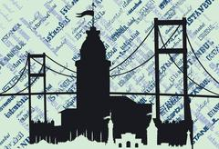 Istanbul city vector art Stock Illustration