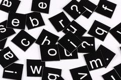 The letters of the english alphabet Stock Photos