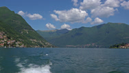 Stock Video Footage of Italy, lake Como and surroundings, view from aboard the ship.