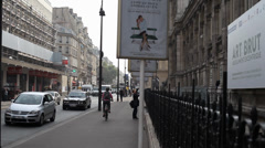 Paris Rue Rivoli Stock Footage