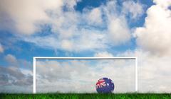 Composite image of football in australia colours - stock illustration