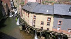 Old water mill in Saarburg. Stock Footage