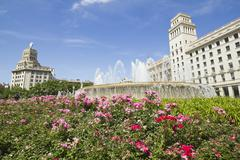 Barcelona: the exact center of the city Stock Photos