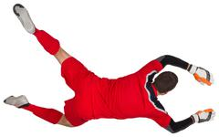 Fit goal keeper jumping up Stock Photos