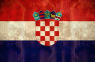 Stock Illustration of Croatia flag in grunge effect