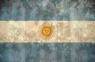 Stock Illustration of Argentina flag in grunge effect