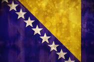 Stock Illustration of Bosnia flag in grunge effect