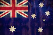 Stock Illustration of Australia flag in grunge effect